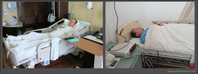 Lying around post surgery