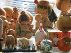 Dolls in a thrift shop