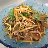 The noodle dish